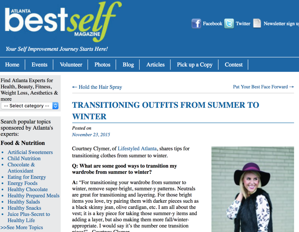 Best Self Magazine Outfit Transitioning Q&A