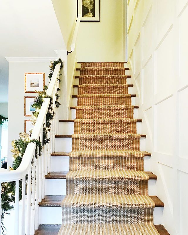 Happy Monday! We got all kinds of last minute #nesting things done around the house this weekend - countdown to baby girl is ON! - including installing this DIY stair runner that I got TONS of questions about! So, I figured I'd share it with you here. • We decided to go the budget-friendly route and found these runners on Amazon {such a great find!} Then, we simply measured how many feet we needed, and Harrison installed them with a good ole' staple gun. The rugs are thick enough that we didn't need rug pads underneath. I love how it turned out! I got a quote of around $1100 to have this done, and our out of pocket cost for 24 feet of stairs was less than $200 😱 Thank God for handy husbands! • You can shop these runners in the @liketoknow.it app // @liketoknow.it http://liketk.it/2ySco #liketkit #lifestyledatlanta #ltkhome #diy • #diyproject #stairrunner #budgetfriendly #staircase #home #interiordesign #interiorinspiration #weekendproject #fixerupper #homeprojects #amazonhome #ltkunder50 #framebridge #thehomedepot #homedepot #diystairrunner