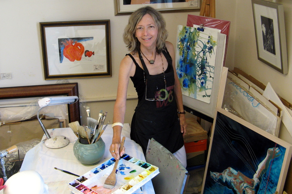Costanza Knight, also known as Connie Knight, at work in her studio