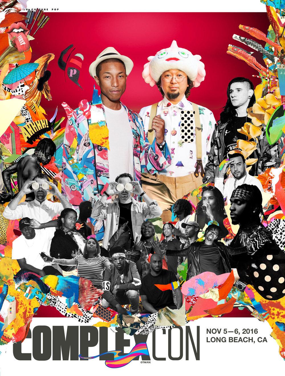 Original collage for inaugural Complex Con cover for Complex, 2016