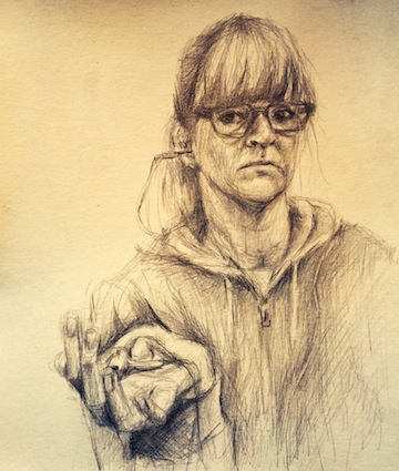 Self-portrait by Emily Moll Wood