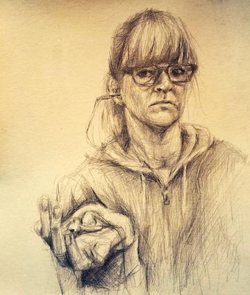 Self-portrait by Emily Moll Wood