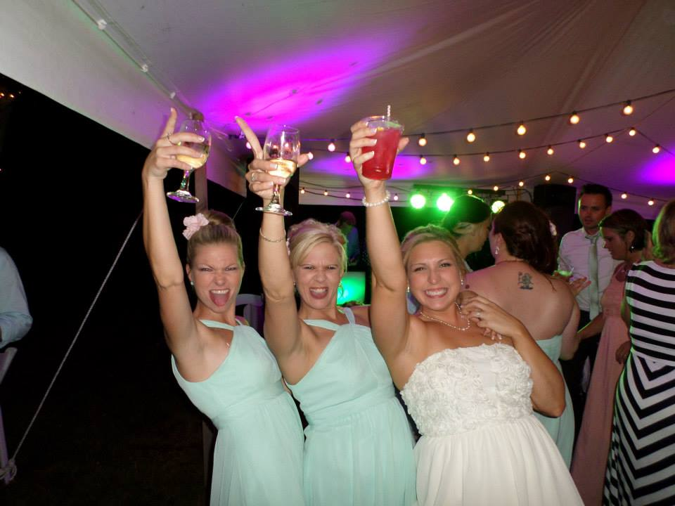 Dayna and Bridesmaids Raise Glass.jpg
