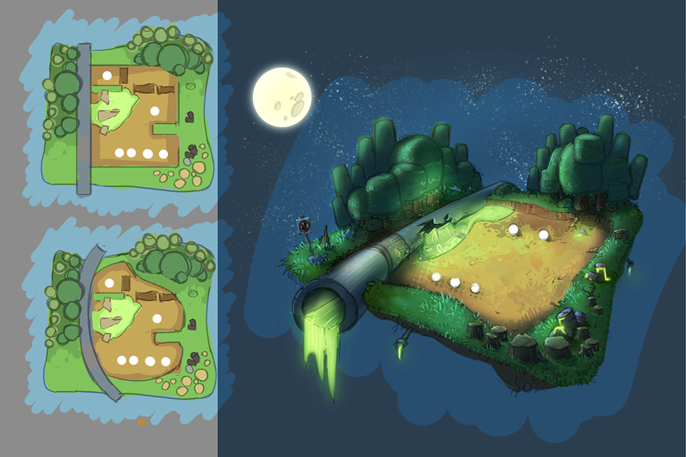 Forest - Night - Battle Arena  Concept
