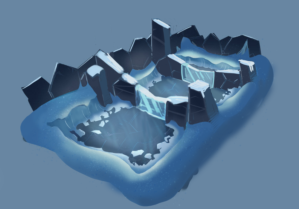 Ice Cave Battle Arena - Concept