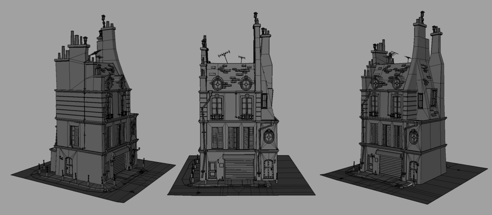 French Inspired Home - Wireframe