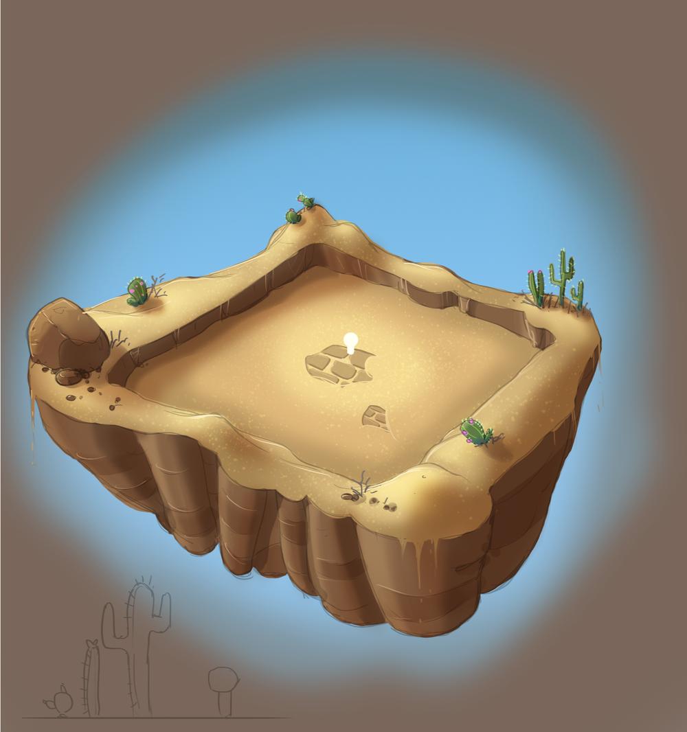 Desert Battle Arena Concept