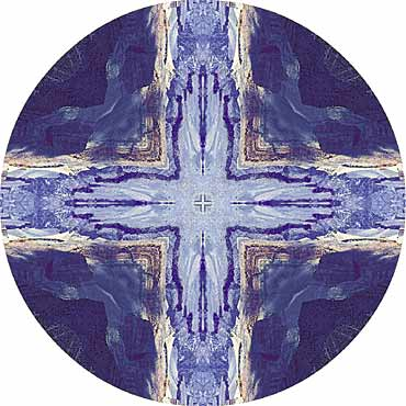 """Magic Cross"" earth mandala by Komra Beth Salo. All Rights Reserved."