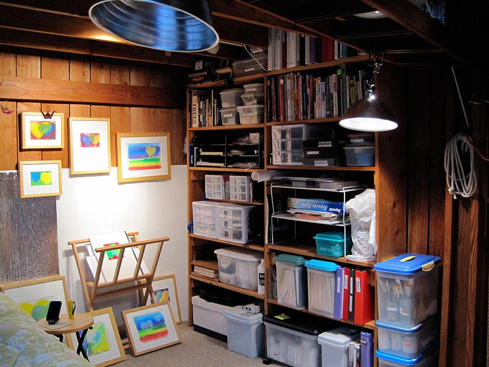Painting Studio Organizing - Bookcase
