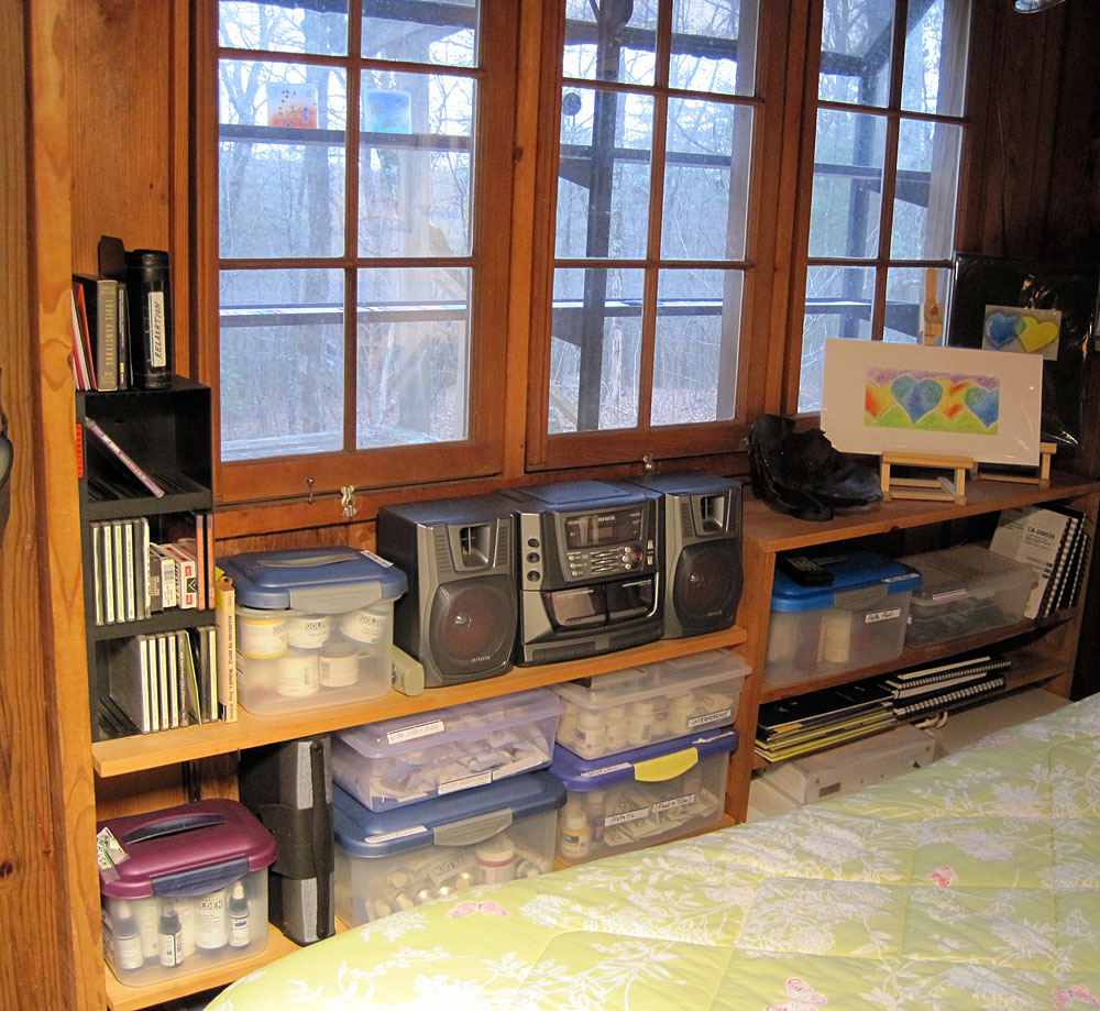 Painting Studio Organizing - More shelves