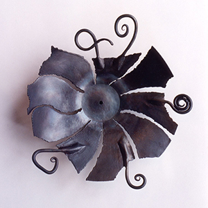 """Healing in the Broken Places"" - Forged iron vessel sculpture © 1993 Catherine Jo Morgan (sold)"