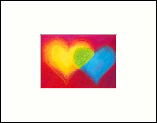 """FLOW"" - Oil pastel painting © 2008 Catherine J Morgan (sold)"