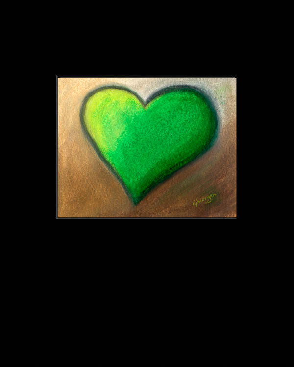 """Thrive"" Oil pastel heart painting© 2012 Catherine Jo Morgan, #120024, SOLD."