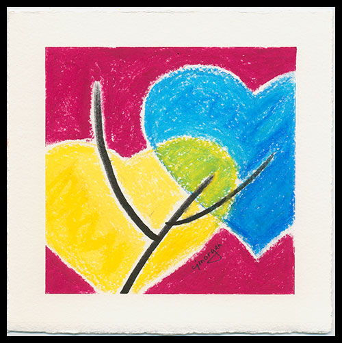 """Reach Out"" - oil pastel © 2012 Catherine Jo Morgan (signed cjmorgan)"