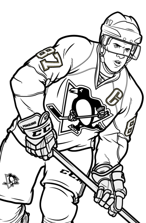 nhl mascot free coloring pages photo16