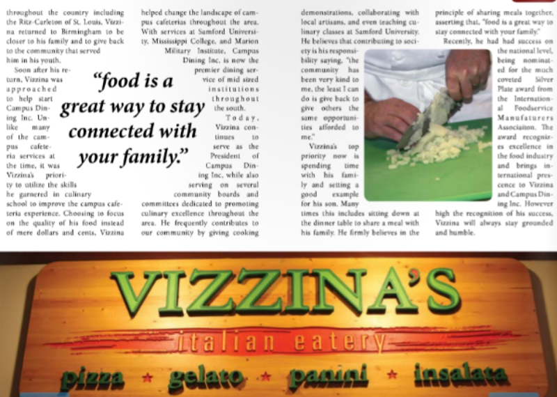 Screenshot from the spread in Birmingham Food Magazine
