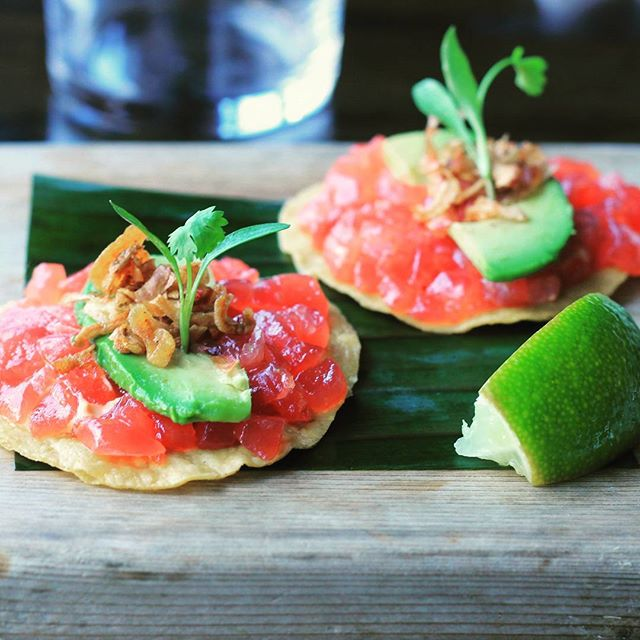 The new and improved Tuna Tostada!  #downtown #annarbor #michigan