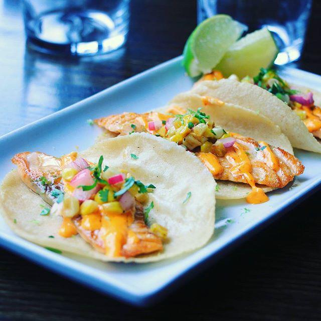 Smoked Salmon Tacos are the hot hit at Isalita!  #isalita #downtown  #annarbor #michigan #salmon