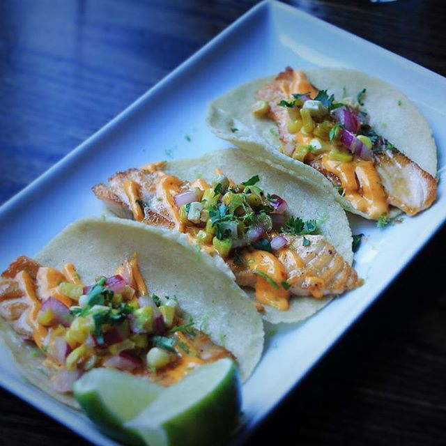 Happy #nationaltacoday !!! Come celebrate everybody's favorite holiday at Isalita! 🌮😋 . . . . #tacos #annarbor #mexicanfood #salmon #foodporn