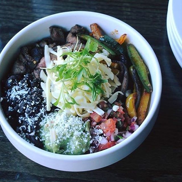 Burritos? Definitely better in a bowl.  Introducing the new Isalita bowls! Stop by during lunch to try a steak or chicken burrito, carnitas, or salmon poke bowl! #StopDrop&Bowl #Unbelieva-bowl 😋🤤🌯