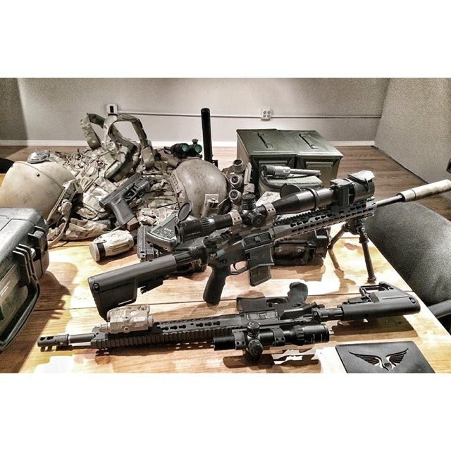 When the boys come back from a deployment for SOPMOD refit, we do it on the spot at our facility. That means disassemble, gauge, re-Cerakote, reassemble. All that is followed by re-zero. However, whenever it's Recce guys, that means re-zero, then re-zero at night...with NVGs, Suppressors...and kit. We're still waiting for this job to feel like work.... Pic 1 of 2 #whatcolorornumber