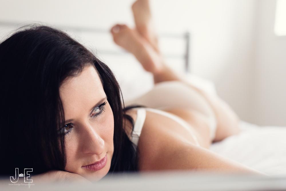 Gosia boudoir photoshoot sheer