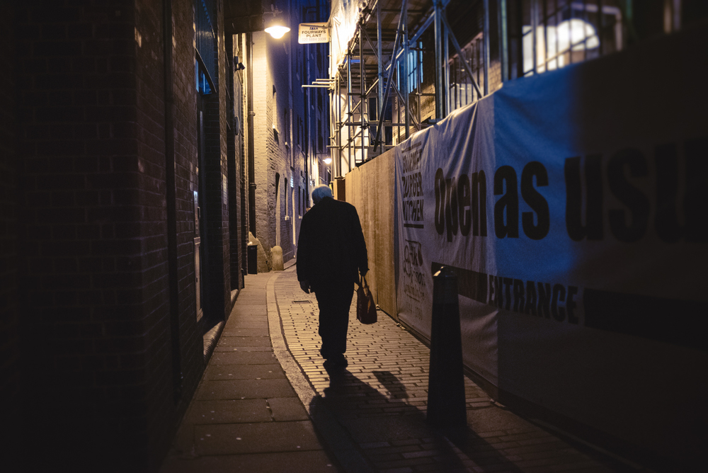 London street photography night time