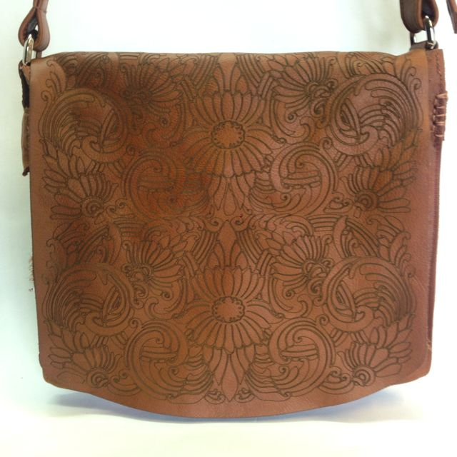 Etched Messenger Bag