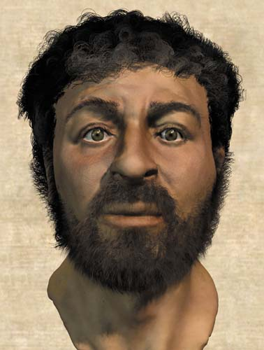Picture Shows: Reconstruction of a 1st century male Jewish head