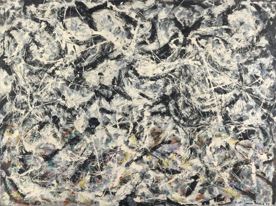 Jackson Pollock's Greyed Rainbow, 1953, Oil on linen © 2015 Pollock-Krasner Foundation / Artists Rights Society (ARS), New York