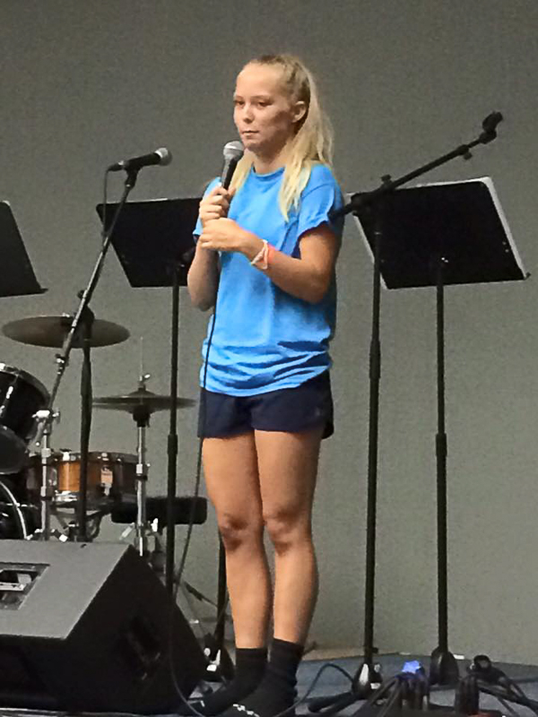 Ellie Havenstrite sharing her life story.
