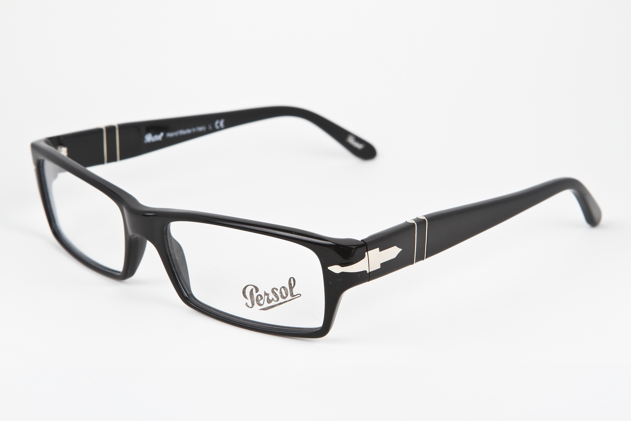 21258f92f0c5e PERSOL Black with Silver zyloware — BFOCUS-EYEWEAR