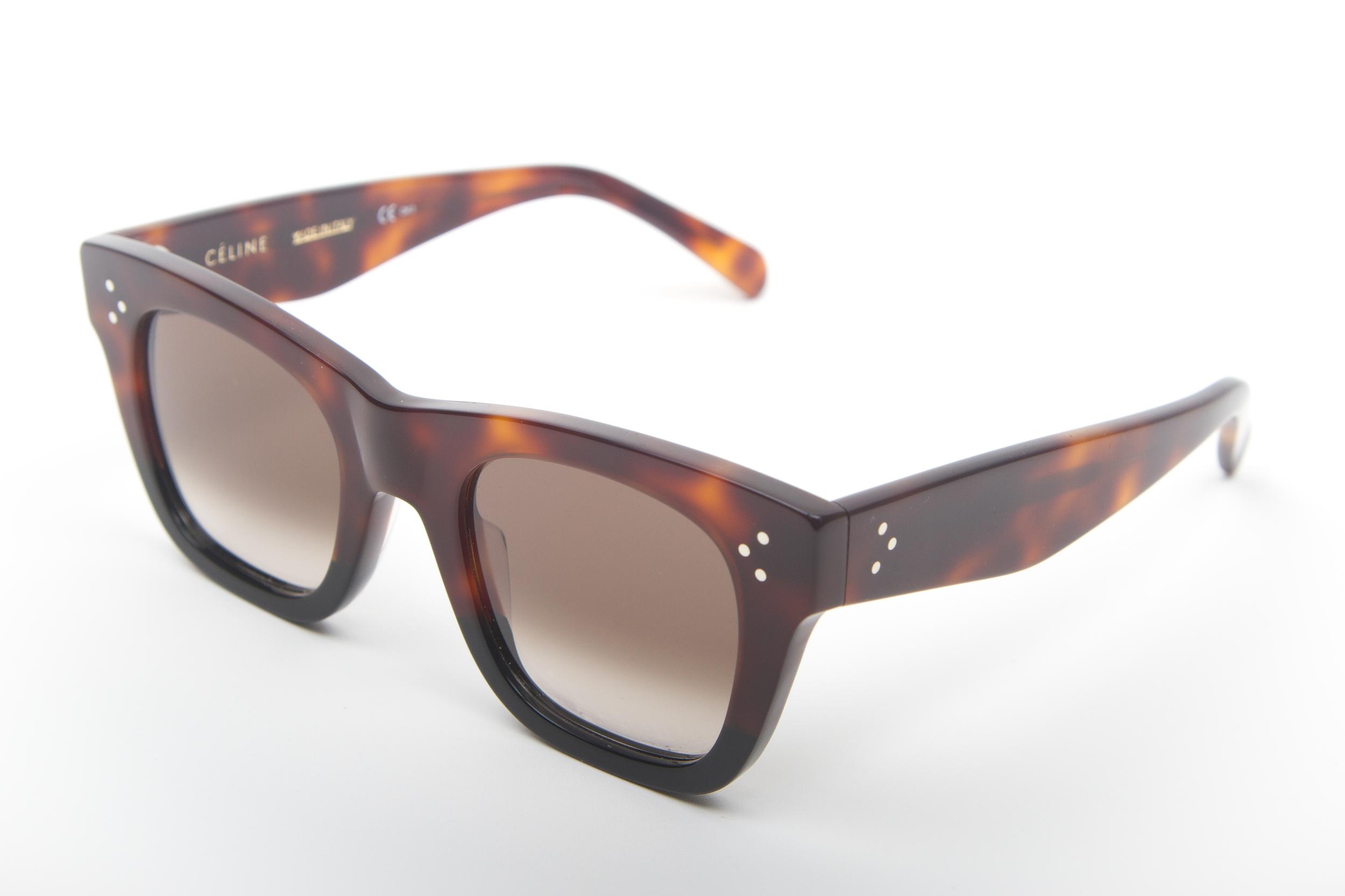 1a42283d60320 CÉLINE Brown with black zyloware — BFOCUS-EYEWEAR