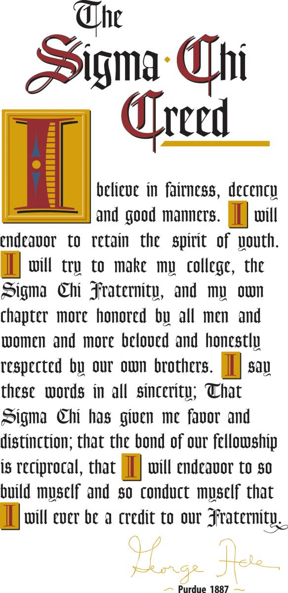 Values Sigma Chi Lambda Epsilon Chapter