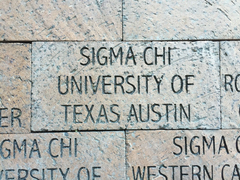 The Alpha Nu CHapter's brick on the Walk of Hope outside the Huntsman Cancer Institute in Salt Lake City, Utah