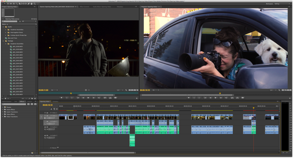 Editing the 2014 Opening video