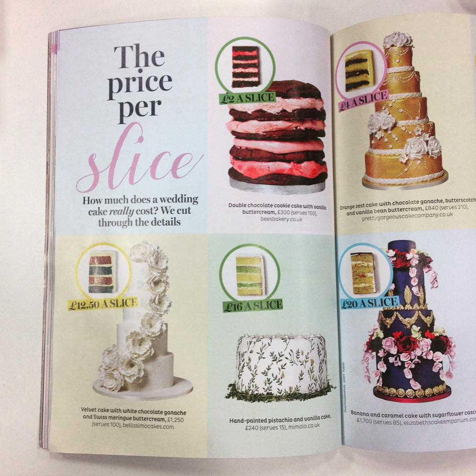 Brides Magazine - Wedding Planner - Botanical Cake