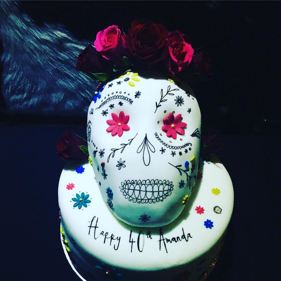 A Day Of The Dead 40th Birthday Cake Mimolo Design