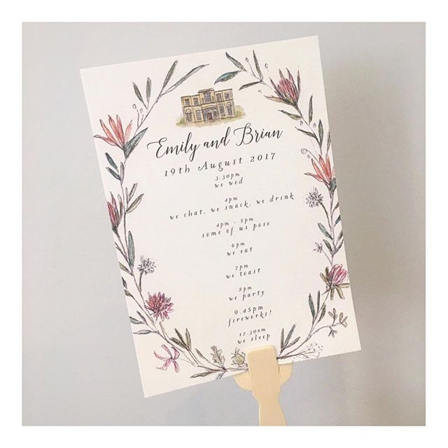 Order of the day fans for Emily and Brian's wedding on Saturday @backwellhouse . I loved creating this South African inspired stationery with proteas and birds of paradise 🌿🌾🌸 . . . #simpleandstill#dailydoseofpaper #underthefloralspell#bloomandgrow #botanicaldaydreams#flowersandotherstories #dsfloral#moodforfloral #flowersgivemepower#floralfridaycompetition #aquietmoment#pursuepretty #bevisuallyinspired#aseasonalshift #asecondofwhimsey#inspiredbynature #seekinspirecreate#gatherandcurate #onmytable#littlecornersofmylife #weddingstationery#luxurywedding #stylemepretty#stylemeprettyweddings#inspiremyinstagram #simpleandstill#dailydoseofpaper #underthefloralspell#bloomandgrow #botanicaldaydreams#flowersandotherstories #dsfloral#moodforfloral #flowersgivemepower#floralfridaycompetition #aquietmoment#pursuepretty #bevisuallyinspired#aseasonalshift #asecondofwhimsey#inspiredbynature #seekinspirecreate#gatherandcurate #onmytable#littlecornersofmylife #weddingstationery#luxurywedding #stylemepretty#stylemeprettyweddings#inspiremyinstagram