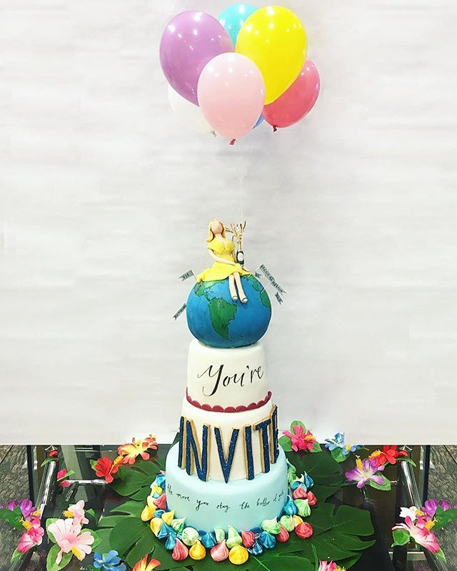 A fairly busy week last week with this extravaganza for @smallluxuryhotels to launch #slhinvited. An edible hand painted globe and bursting glitter balloons! Cake flavours- rhubarb gin & tonic, orange and poppy seed and chocolate, honeycomb and salted caramel. . . . #cake #cupcakes #cakes #cupcake #birthdaycake #instacake #cakestagram #cakepops #cakedesign #cakeart #cakedecorating #caketopper #cakeporn #fondantcake #customcakes #cakelover #nakedcake #cakesofinstagram #cupcakestagram #weddingcakes #customcake #cakecakecake