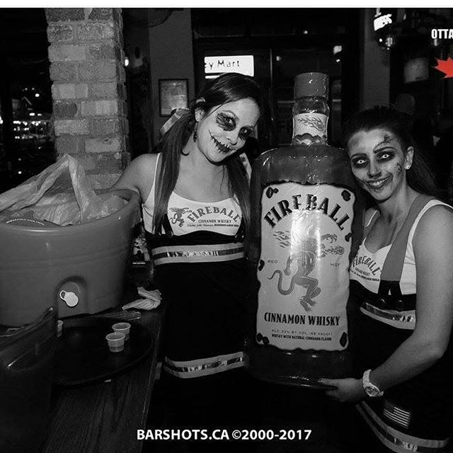 Halloween was like.. 💀🔥 . . . . #zombies #ignitethenight #fireball #ottawa #barshotsottawa #barshots #promolife #ambassadors #whisky