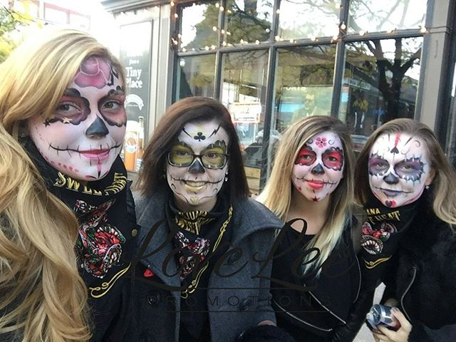 "When you get a message from the staff that reads ""another awesome time. I love working for you"" it makes your days that much brighter . . . #dayofthedead #toronto #tijuanasweetheat #getbit #streetteam @thefritzofart"
