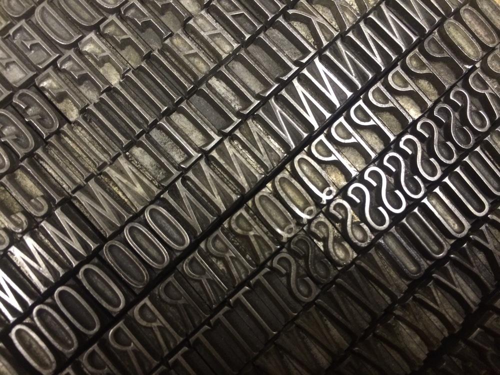 Letterpress 24pt Stephenson Blake Foundry Type