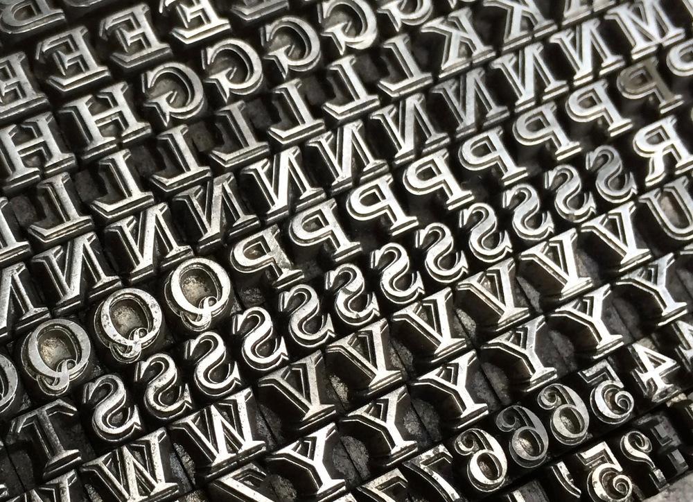 Stephenson Blake old foundry type - 12pt Latin Shaded