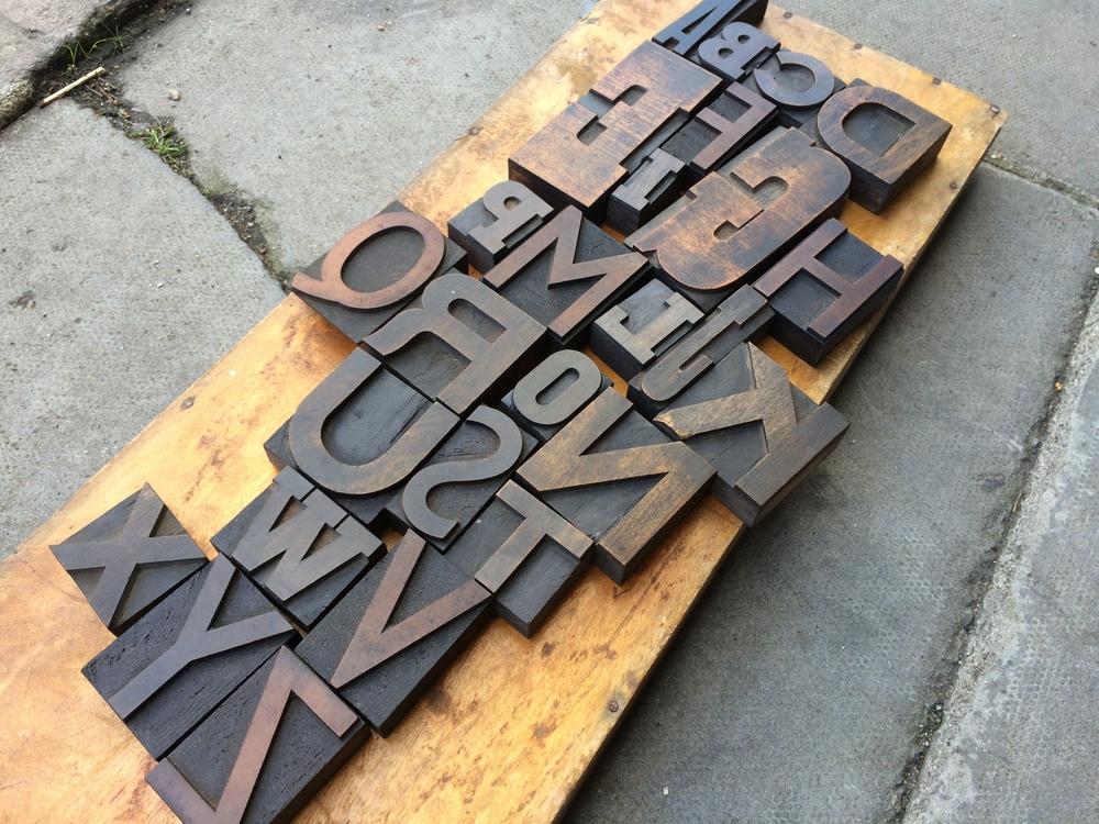 Large wood letter alphabet