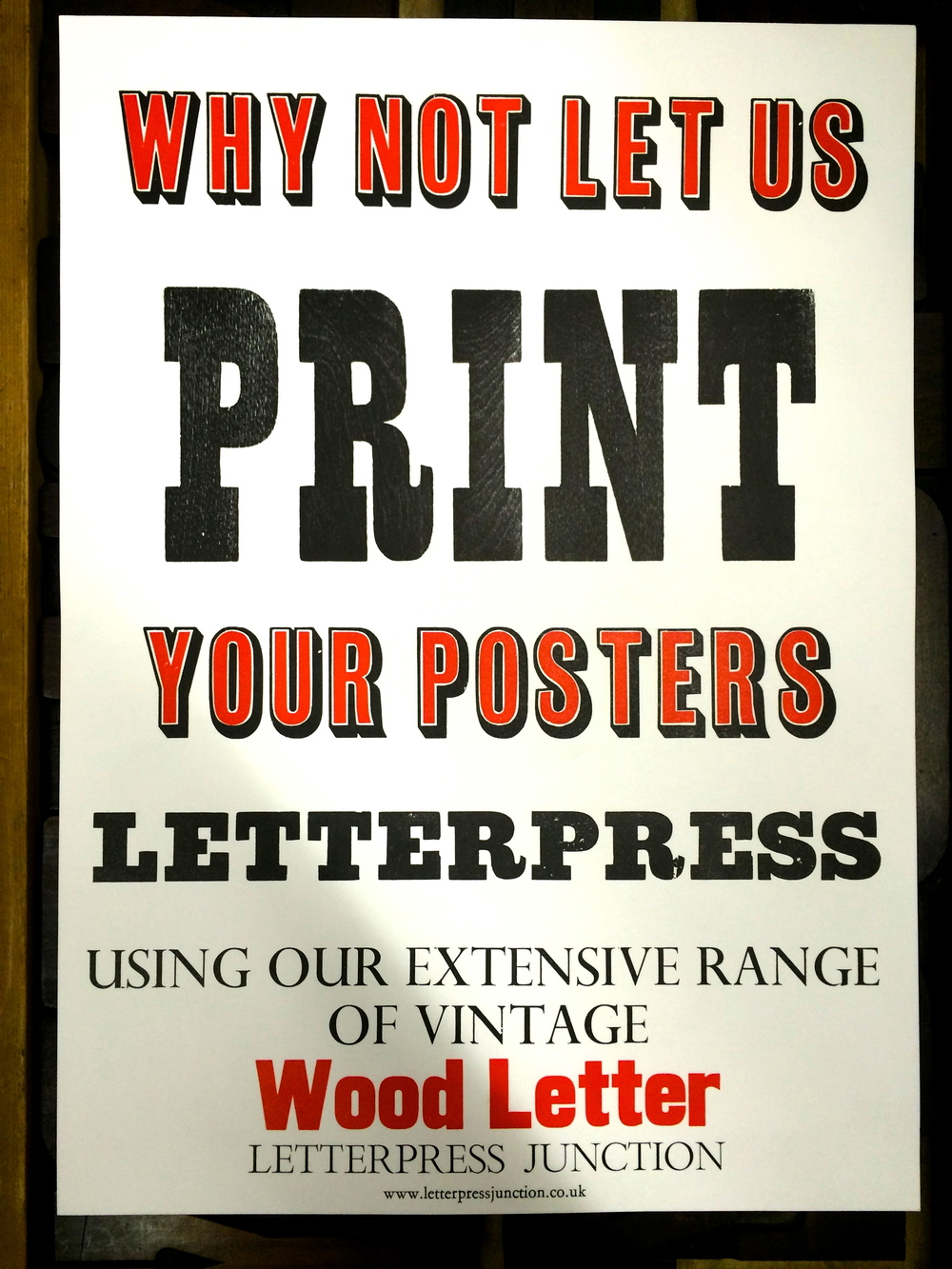 "Letterpress Junction - ""Why not let us print your posters"""