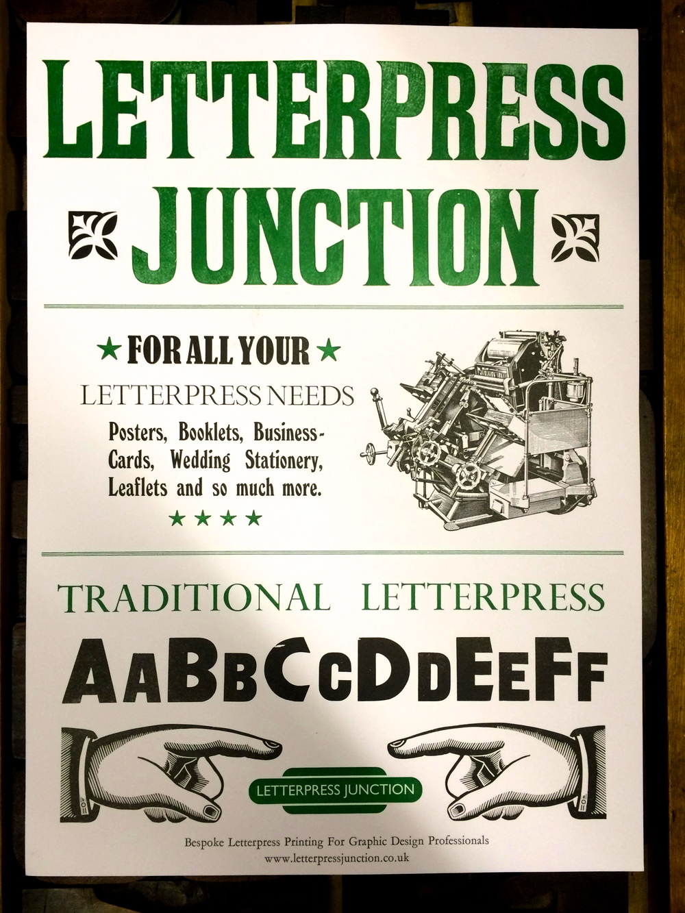 Letterpress Junction - Traditional Letterpress