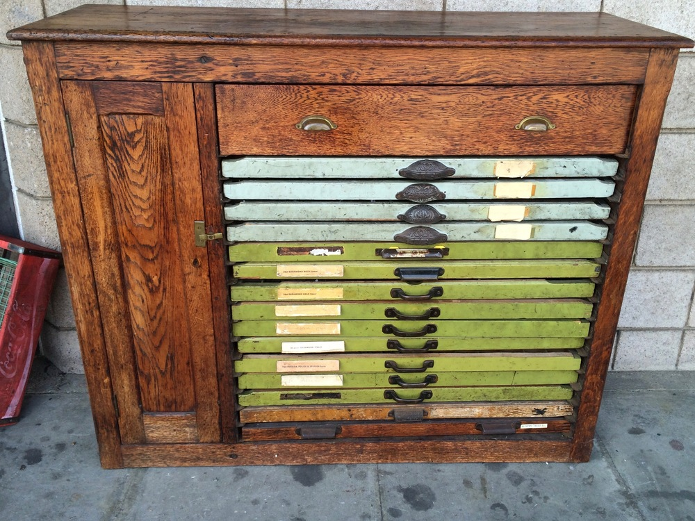 Letterpress Cabinet for sale