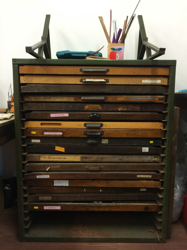 Letterpress type cabinet for sale