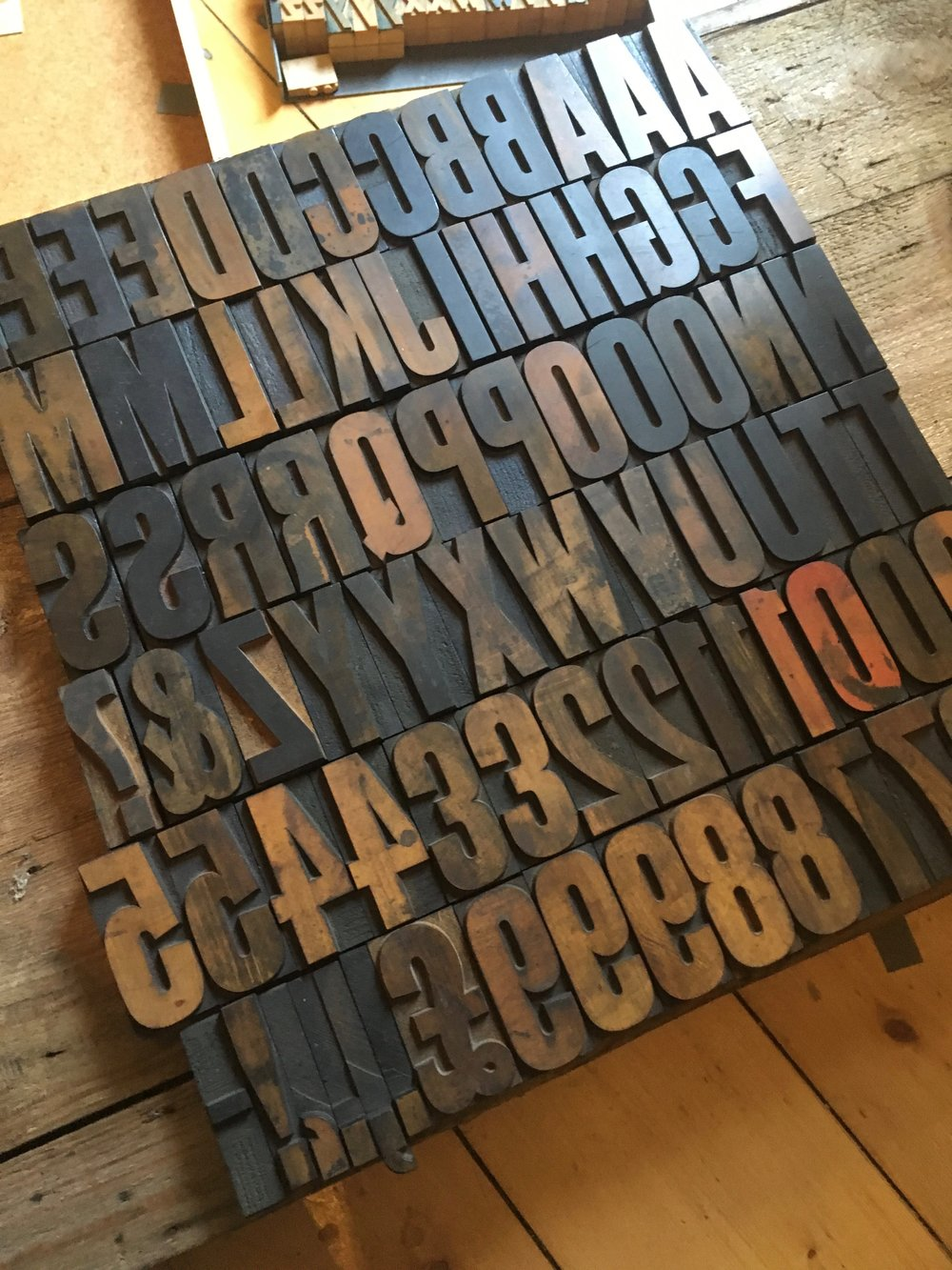 16 Line Wood Letter